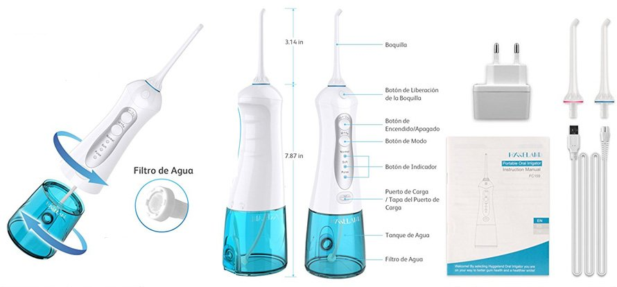 irrigador dental portatil hyggeland